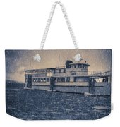 Ship In A Snowstorm Weekender Tote Bag