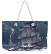 Ship In A Storm Weekender Tote Bag