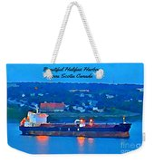 Ship In Beautiful Halifax Harbour Weekender Tote Bag