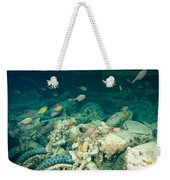 Ship Wreck With Motorbikes Weekender Tote Bag