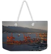 Shipping Terminals Port Of Vancouver Weekender Tote Bag