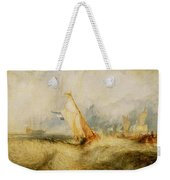 Ships A Sea Getting A Good Wetting Weekender Tote Bag