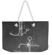 Ship's Anchor Patent Weekender Tote Bag