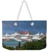 Ships And Atlantis Weekender Tote Bag