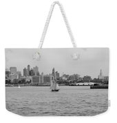 Ships And Boats In Black And White Weekender Tote Bag