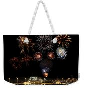 Ships And Fireworks Weekender Tote Bag