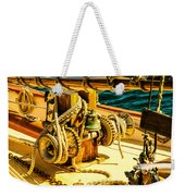 Ships Bell Sailboat Weekender Tote Bag