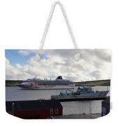 Ships In Lerwick Harbour Weekender Tote Bag