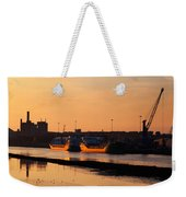 Ships Moored At The New Docking Weekender Tote Bag