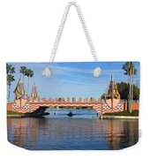 Ships On Waves Bridge Weekender Tote Bag