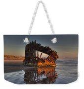 Shipwreck At Sunset Weekender Tote Bag