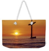 1a4145-a1-e-shipwreck In The Bay Weekender Tote Bag