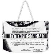 Shirley Temple Song Album Weekender Tote Bag