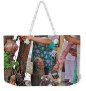 Morning Offerings At A Shiva Temple - India Weekender Tote Bag