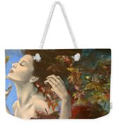 Shivers Weekender Tote Bag by Dorina  Costras
