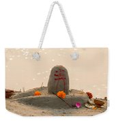 Shivling From Sand Weekender Tote Bag