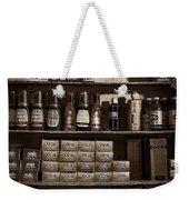 Shoe Shine Rack Bw Weekender Tote Bag