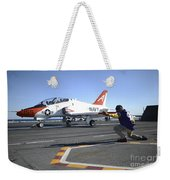 Shooter Signals To The Pilot Of A T-45c Weekender Tote Bag