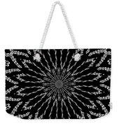 Shooting Star Black And White Kaleidoscope Weekender Tote Bag