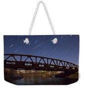 Shooting Star Over Bridge Weekender Tote Bag