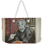 Shop Window Metal Blind Einstein Weekender Tote Bag