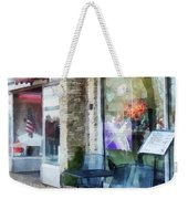 Shopfront - Music And Coffee Cafe Weekender Tote Bag