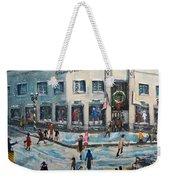 Shopping At Grover Cronin Weekender Tote Bag by Rita Brown