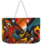 Shopping Weekender Tote Bag by Leon Zernitsky