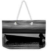 Shore Boat Bw Weekender Tote Bag
