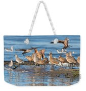 Shorebirds Flocking At Bodega Bay Weekender Tote Bag
