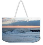 Shoreline  And Waves At Cape May Weekender Tote Bag