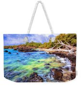 Shoreline At Puako Weekender Tote Bag