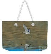 Short-billed Dowitcher And Reflection Weekender Tote Bag