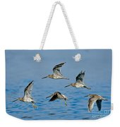 Short-billed Dowitchers In Flight Weekender Tote Bag