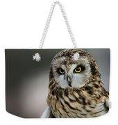 Short Eared Owl Portrait Weekender Tote Bag