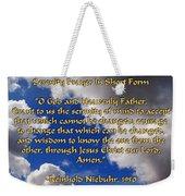 Short Serenity Prayer Weekender Tote Bag
