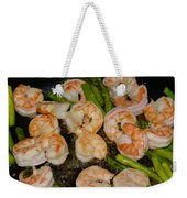 Shrimp And Asparagus Weekender Tote Bag