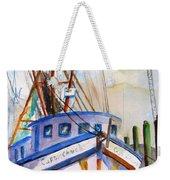 Shrimp Fishing Boat Weekender Tote Bag