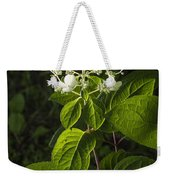 Shrub With White Blossoms Weekender Tote Bag