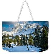 Shuksan Winter Paradise Weekender Tote Bag by Inge Johnsson