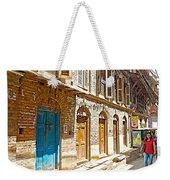 Shutters And Doors Along The Street In Bhaktapur-city Of Devotees-nepal  Weekender Tote Bag