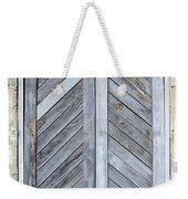 Weathered Wooden Shutters Weekender Tote Bag