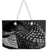 Shy Loon - Painted Rock - Seabird - One Of A Kind Weekender Tote Bag