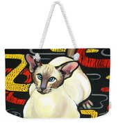 Siamese Cat On A Cushion Weekender Tote Bag