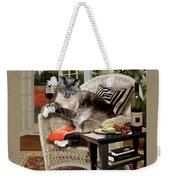 Funny Pet A Wine Bibbing Kitty  Weekender Tote Bag