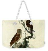Siberian Owl And Acadian Owl Weekender Tote Bag