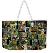 Siberian Tiger Collage Weekender Tote Bag