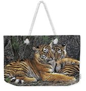 Siberian Tiger Cubs Endangered Species Wildlife Rescue Weekender Tote Bag