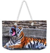 Siberian Tiger Nap Time Weekender Tote Bag