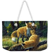 Red Foxes - Sibling Rivalry Weekender Tote Bag
